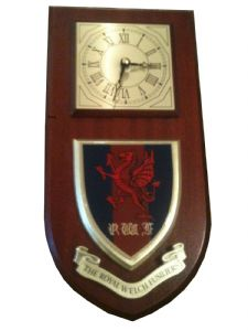 Royal Welch Fusiliers Regimental Wall Plaque Clock